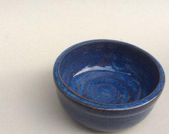 SMALL little blue bowl for prep work or trinkets or serving handmade B110