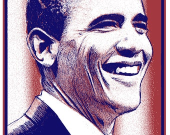 "Limited Edition Screen Printed Art Print ""Thanks Obama"" by Brian Methe"