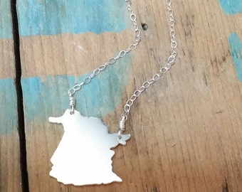 New Brunswick Necklace, NB Necklace, Province Necklace, Canadian