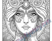Single Coloring Page - Maharani from the Magical Beauties Collection - Download, Print & Color!
