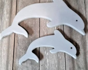 Wooden Dolphins -- Wooden Cut Outs- Beach Dolphins