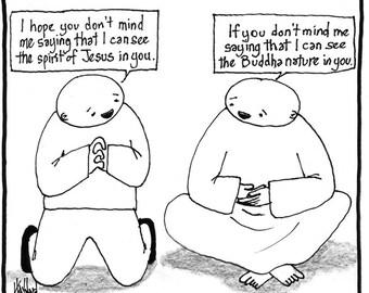 Jesus and Buddha CARTOON