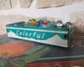 Vintage Colorado License Plate Tray - Rustic Storage Box - FREE SHIPPING