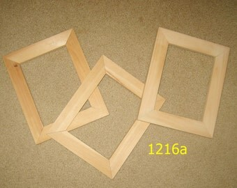 3 unfinished wood 6x8 picture frames
