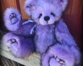 Orchid Kiss KIT - make your own 14 inch soft purple faux fur artist bear