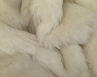 Natural Ivory - Long pile ALPACA fur 24mm pile - Fat 1/8m