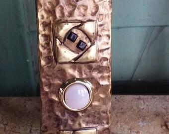 Hammered Hurd Rose Doorbell