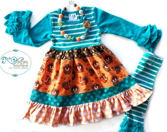 Thanksgiving Turkey Holiday dress Momi boutique custom dress