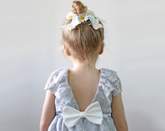 Light Grey Lace Dress, Flower Girl, Special Occasion, toddler and girl
