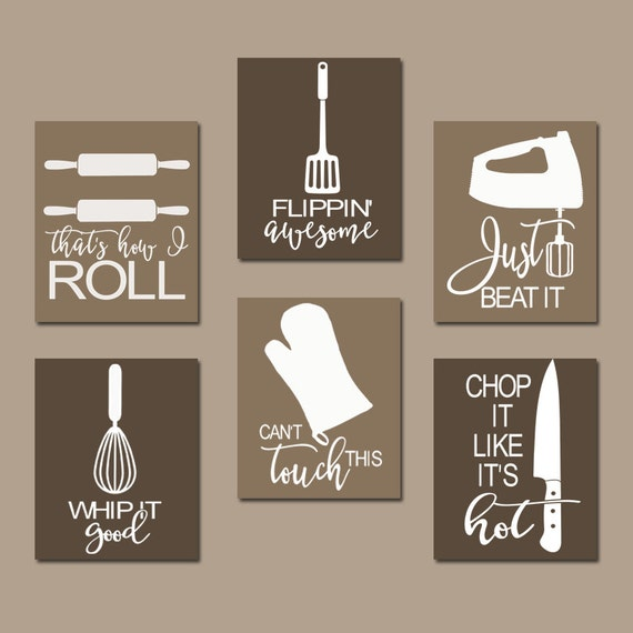 Kitchen Jokes Quotes: KITCHEN QUOTE Wall Art Funny Utensil Pictures CANVAS Or