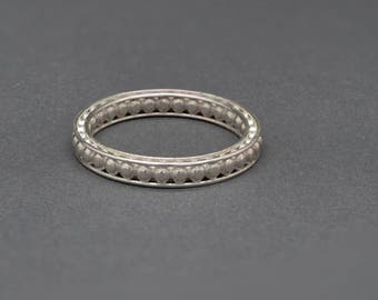 Tiny Sphere Stacking Ring Band in Sterling Silver