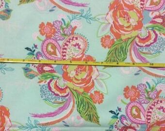 NEW Art Gallery Nib and Pluck Ursinia on cotton Lycra  knit fabric 1 yard.
