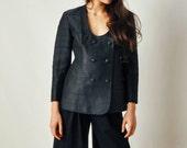 Vintage Custom Black Silk Jacket