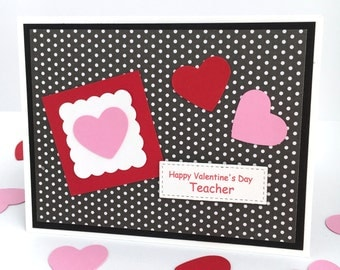 Teacher Valentine's Day Card - Teacher Valentine Gift Card Holder - Valentine Card for Teacher, School Valentine Money Card