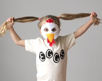 Organic Egg Kids Shirt, toddler gift, easter eggs, funny t-shirt, easter basket gift for kids, easter bunny, chicken eggs, organic cotton