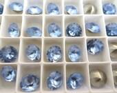 12 Light Sapphire Matte Swarovski Crystal Chaton Stone 1088 39ss 8mm
