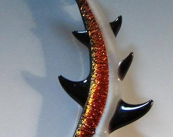 Shark Pendant Shark Necklace Shark Jewelry Glass Shark Lampwork Glass Sea Life Pendant Tom Heath Sanctuary Glass FREE SHIPPING