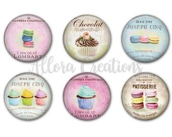 Macaron Magnets, Fridge Magnets, Cupcake Magnets M030