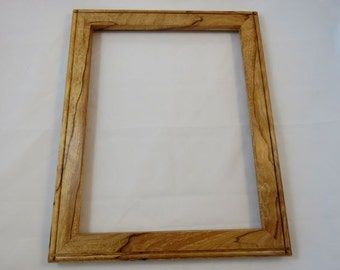 11x14 Spalted Light Curly Beech Picture Frame B2