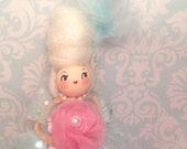 Marie Antoinette art doll Marie Antoinette ornament vintage retro inspired mint green pink white
