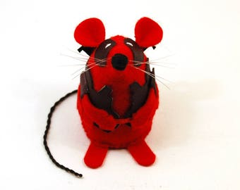 NEW Deadpool Mouse - collectable art rat artists mice felt mouse cute soft sculpture toy stuffed plush gift for Marvel Ryan Reynolds fan