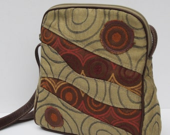 SMALL SHOULDER BAG  Fabric and Leather Circulation