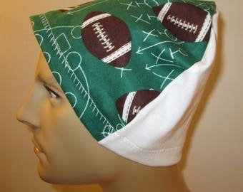 Mens Flannel Football Chemo Hat Sleep Cap Cancer Cap Keep Bald Heads Warm cj hats
