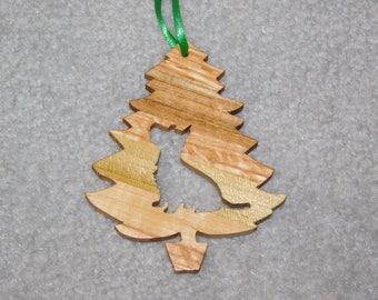 Wood Christmas Tree Dog Ornament -  Westie