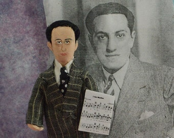 George Gershwin Doll Music Composer Miniature Art Gift for Musician
