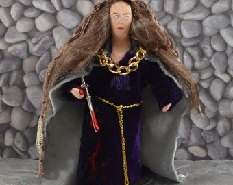 Shakespeare Lady Macbeth Doll Art Miniature Collectible Unique Art Character