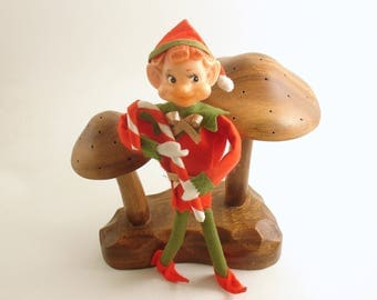 Vintage Christmas Pixie Candy Cane