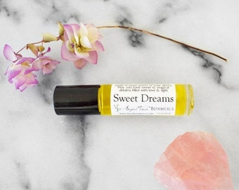 SALE - Sweet Dreams Gemstone Aromatherapy for Sleep - Magical Aromatherapy Potion to Enhance Your Dreams - Organic Roll-on with Essential Oi