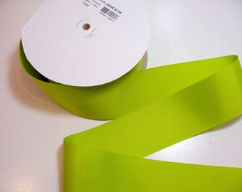 Lime Green Ribbon, Offray Lime Green Grosgrain Ribbon 2 1/4 inches wide x 10 yards