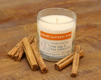 Soy Wax Candle - Pumpkin Spice Latte Pure Soy Wax Candle - 7.5 oz