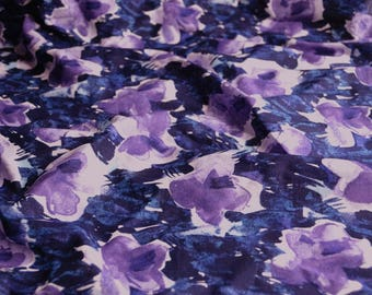 4600 - Watercolor Floral Cotton Fabric - 53 Inch (Width) x 1/2 Yard (Length)