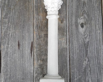 Vintage Corinthian Pillar, Perfect for Barbie Garden, Blythe Dolls, Playscale or Large Fairy Garden, One Six Scale, Plaster Display Prop