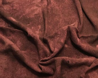 Hand Dyed ANTIQUE MAUVE Raw Silk Noil Poplin Gauze Fabric - 1 Yard