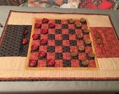 Quilted Checker Board Game Pattern