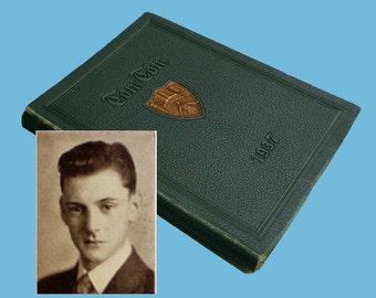 Vintage 1937 Tulsa Central Tom Tom Yearbook - Tony Randall