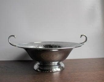 Vintage silver footed serving bowl