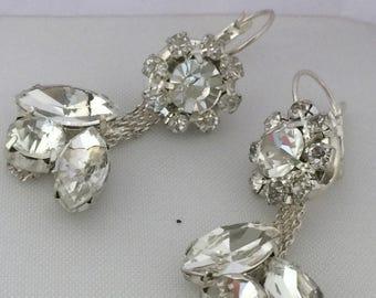 Brides Jewellery  Dangle Earrings ,Silver  Earrings