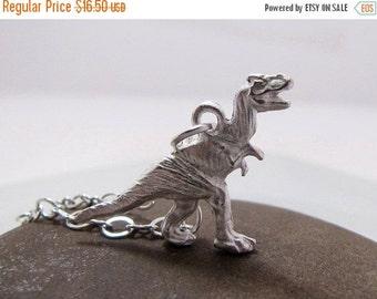 SALE Tyrannosaurus THE RAWR Dinosaur Necklace