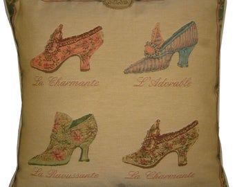 Marie Antoinette Shoes Tapestry Cushion Sham