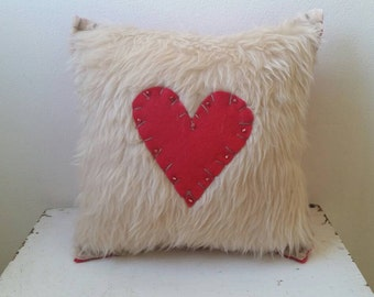 Red Heart + Cozy = Love Pillow