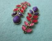 Flower charms, findings, earrings ,