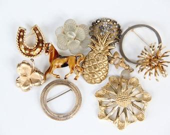 Vintage Brooch Pin Earring Destash Lot