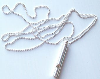 Whistle Necklace in Silver