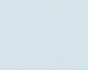 Bunnies and Cream, By Lauren Nash Bunnies Gingham Blue C6025-Blue