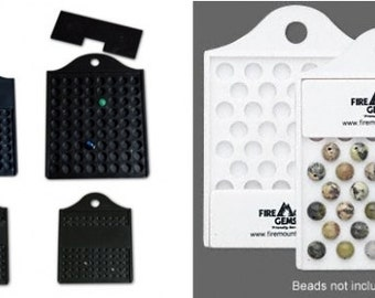 Acrylic Bead Counting Set 4 Pc. - Black or White - 3mm to 8mm Beads fnt