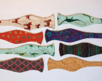 Sunday West - boys self-tie bow tie - XS extra small 4-5 years dinosaurs tigers sailors - ready to ship - free shipping